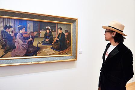 彭城貞徳『和洋合奏之図』1906年頃 長崎県美術館蔵