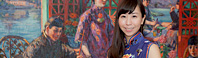 チャイナドレスのコトリンゴと巡る『描かれたチャイナドレス』展