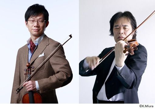 『ミュージック・イン・ザ・ダーク~障がいとアーツin横浜』に出演する川畠成道(左)、徳永二男(右)