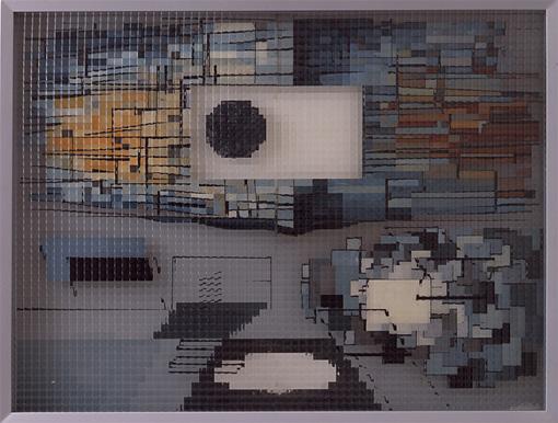 山口勝弘『ヴィトリーヌNo.47(完全分析方法による風景画)』1955年  東京国立近代美術館蔵