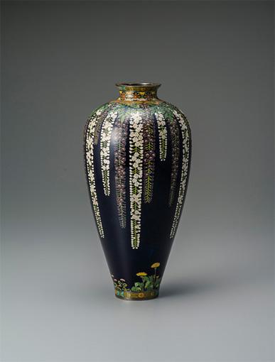 並河靖之 藤草花文花瓶 並河靖之七宝記念館蔵