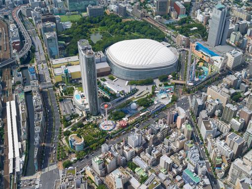 現在の東京ドームシティ周辺の様子