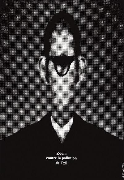 『目の汚染に対してズームせよ』ポスター 1971年 ポズナン国立美術館蔵 ©ADAGP, Paris & JASPAR, Tokyo, 2017 E2551