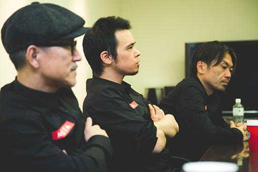 左から:高橋幸宏、LEO今井、ゴンドウトモヒコ