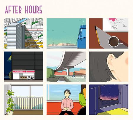 シャムキャッツ『AFTER HOURS』ジャケット(デザイン:サヌキナオヤ)