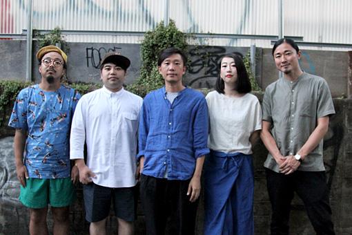 左から:梅本浩亘、田中佑司、蔡忠浩、森本夏子、小池龍平