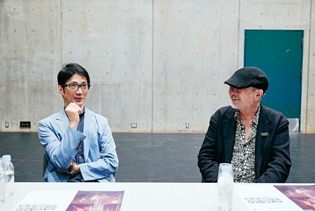 左から:野村萬斎、マキノノゾミ