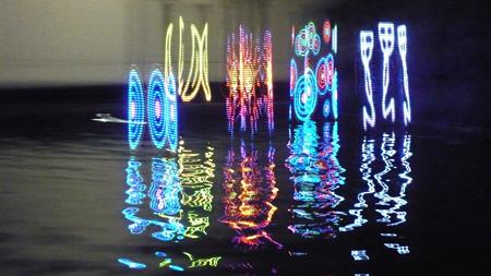 """安藤英由樹+渡邉淳司+田畑哲稔+Maria Adriana Verdaasdonk Saccade-based Display """"blink to see_"""" 2011"""