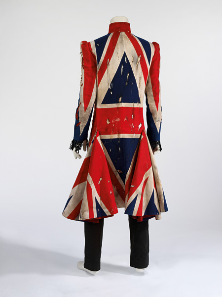 Union Jacket coat, 1997 Designed by Alexander McQueen and David Bowie for the Earthling album cover and tour The David Bowie Archive