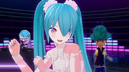 livetune & Pharrell Williams feat. Hatsune Miku『Last Night, Good Night (Re:Dialed) Pharrell Williams Remix』PVより ©Crypton Future Media, INC. www.piapro.net ©2014 Takashi Murakami/Kaikai Kiki Co., Ltd. All Rights Reserved.