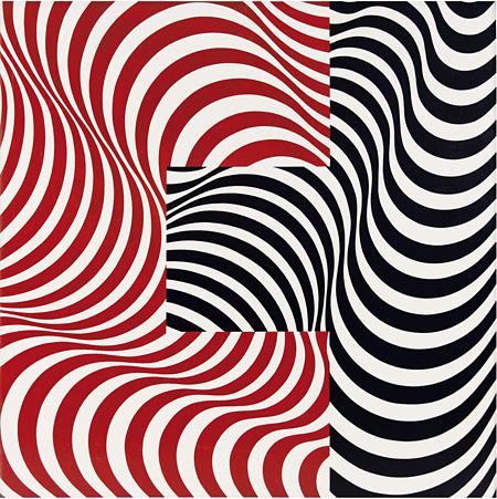 フランコ・グリニャーニ『波の接合 33』 1965年 油彩・カンヴァス