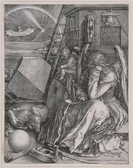 アルブレヒト・デューラー『メランコリア I』1514年 銅版画 24.1×18.8cm 個人蔵