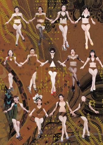 TPAMディレクション 横堀ふみディレクション 黒沢美香&神戸ダンサーズ『jazzzzzzzzzzzzz-dance』Photo by Junpei Iwamoto Design by Manabu Masuda Illustration by Yoshiko Ooishi