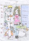 宇野亞喜良が手掛けた寺山修司演劇のチラシや衣裳スケッチなどの原画を展示