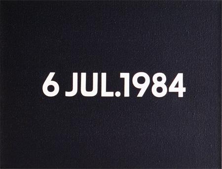 河原温『6 JUL. 1984』