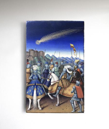 Studies into the Past, Oil on wood panel, 50×31cm ©Laurent Grasso / ADAGP, Paris