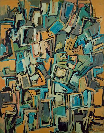『Work B.125』1956年 油彩・キャンバス 116.8×91cm 宇都宮美術館蔵
