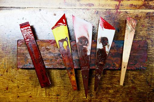 塗りに使用する道具類