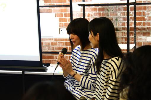 左から:玉利亜紀子(装苑)、森史子(箱庭)