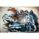 ライブペイントデュオ・DOPPELが渋谷の壁に描いたスパイダーマンと、敵役超人の苦悩