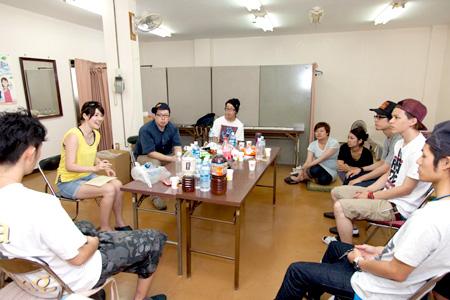 大江戸工場でのミーティングの様子