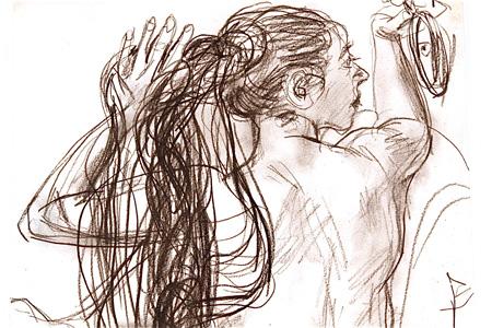 『裸婦』(部分)紙、鉛筆、制作年不詳