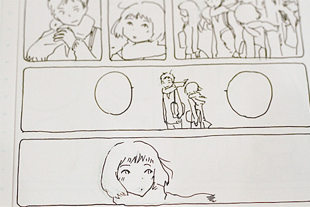 『みかこさん』彩色前の原画より ©今日マチ子(講談社)