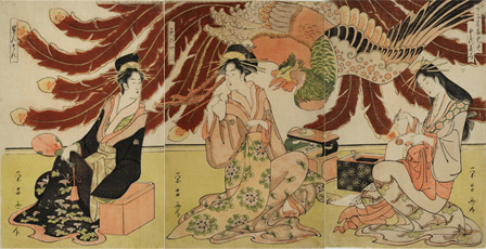 鳥高斎栄昌『丁子屋昼見世 みさやま せんさん とよすみ』(第1期展示作品)