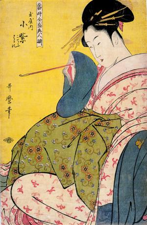 喜多川歌麿『当時全盛美人揃』玉屋内 小紫(第1期展示作品)