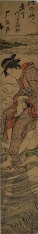 鳥居清長『江之嶋の渡し』(第1期展示作品)