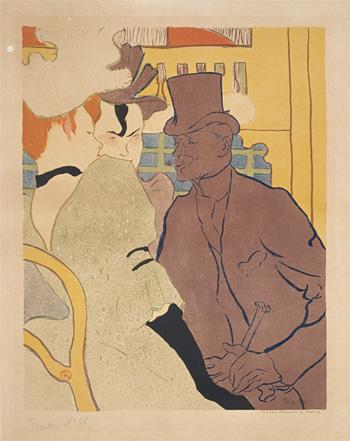 アンリ・ド・トゥールーズ=ロートレック『ムーラン・ルージュのイギリス人』 三菱一号館美術館蔵