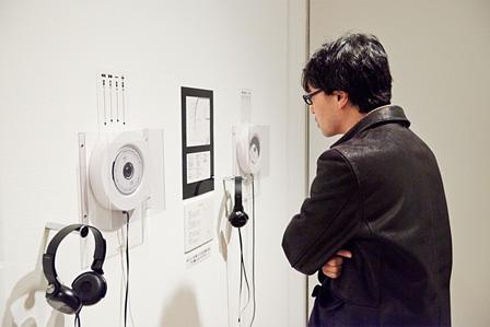 実験工房のメンバーによる現代音楽を聴くことのできるコーナーも