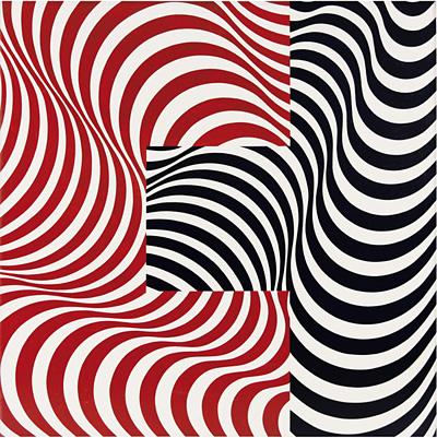 フランコ・グリニャーニ『波の接合 33』1965年 油彩・カンヴァス