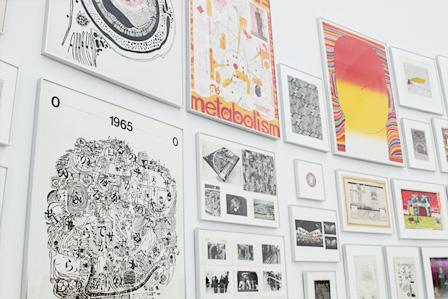 『粟津潔、マクリヒロゲル1 美術が野を走る:粟津潔とパフォーマンス』展示風景