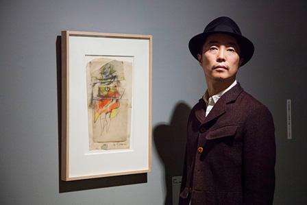 ウィレム・デ・クーニング『マリリン・モンローの習作』1951年 パステル・鉛筆、3点の素描で構成 42.5×24.6cm The Ryobi Foundation