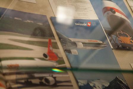 「スイスのエアライン」展示風景