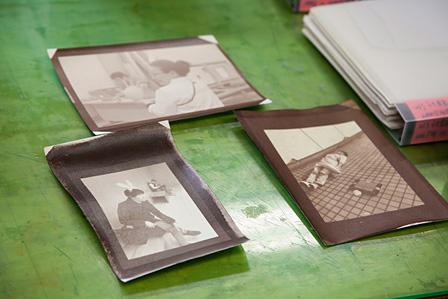 東京都写真美術館のワークショップで制作された鶏卵紙のプリント