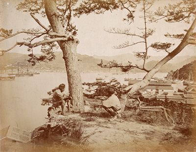 内田九一『長崎港』 明治5(1872)年 アルビューメン・プリント