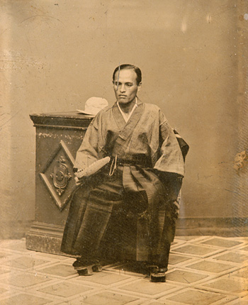 上野彦馬『題不詳(田崎道孝像)』 明治4(1871)年 アンブロタイプ