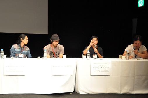 『アジアフォーカス・福岡国際映画祭』シンポジウム「インドネシアの若手監督に訊く」の様子