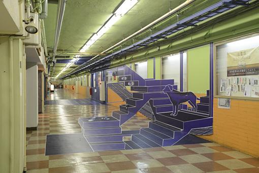 長者町 伏見地下街&地下鉄伏見駅連絡通路出入口 / 『Blue Print』 2004 courtesy of OU studio