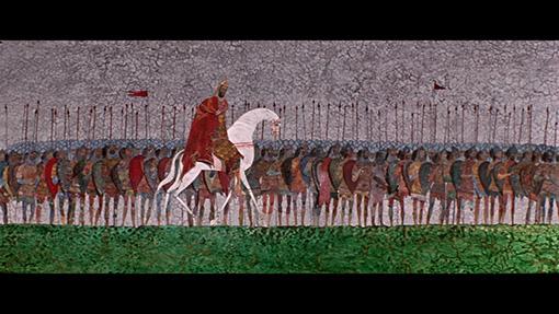切り絵の手法が使われている / 『ケルジェネツの戦い』 ©2016 F.S.U.E C&P SMF