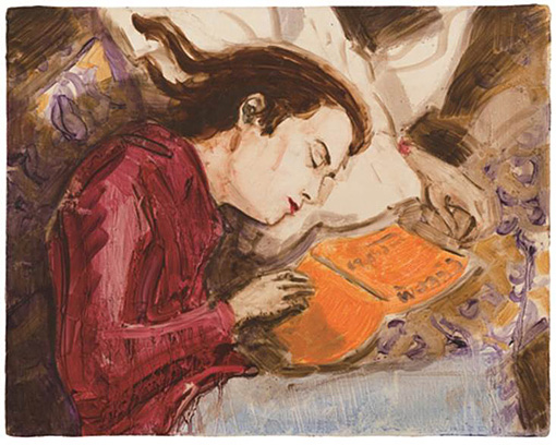 『Kurt Sleeping』1995 板に油彩 27.9×35.6 cm ©Elizabeth Peyton, courtesy Sadie Coles HQ, London, Gladstone Gallery, New York, neugerriemschneider, Berlin