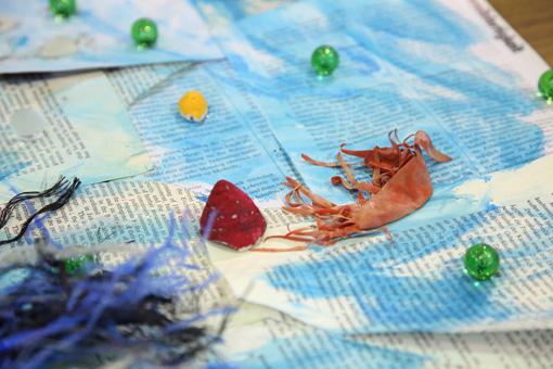 ワークショップを通して自由な想像力からできあがった子供たちの作品Photo:Yukiko Koshima