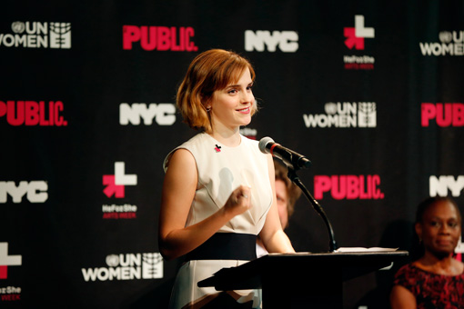 エマ・ワトソン 2016年『HeForShe Arts Week』より Photo by UN Women