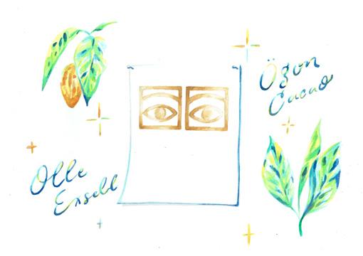 Olle Eksell オーレ・エクセル ポスター(カカオアイズ ゴールド / 50×70cm)