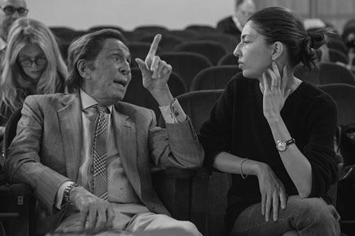 Valentino Garavani e Sofia Coppola durante le prove de La traviata ©Yasuko Kageyama Opera di Roma
