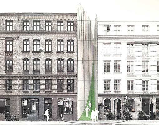 『Copenhagen Dream』。コペンハーゲンの街に提案している、新しいかたちのパブリックスペース。デンマークの家庭には、ウインターガーデンという温室の庭をつくるという習慣がある。アパートメントブロックの隙間にウインターガーデンを設置し寒い冬も町の至る所に逃げ込める暖かい場所を生み出すプロジェクト。©KATO Hiroshi + Ramboll