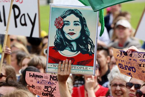 Pニュージランドの首都ウェリントンでのウィメンズ・マーチの様子Women's March, Wellington, NZ, credit Andy McArthur