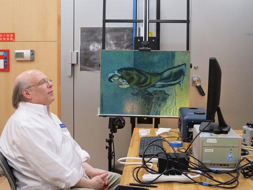 2018年 ポーラ美術館での『海辺の母子像』調査風景